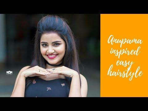 Anupama parameswaran hairstyles|Easy puff hairstyles for natural hair|front puff hairstyle