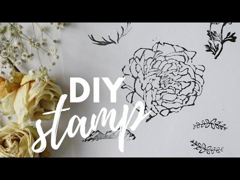 HOW TO MAKE RUBBER STAMP TUTORIAL | Katie Jobling Art