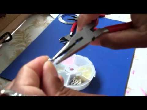 How to make hoop earrings