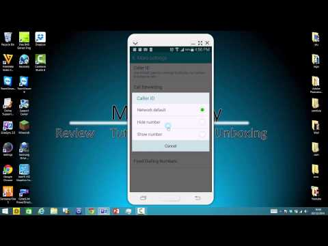 How to change your call ID into private number/hide number on Samsung Galaxy devices(note 4/s5)