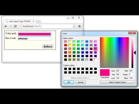 Form Input Type - color: HTML5
