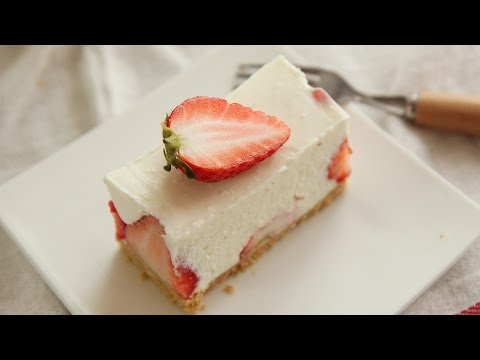 No-Bake Strawberry Cheese cake Easy Recipe : Honeykki 꿀키