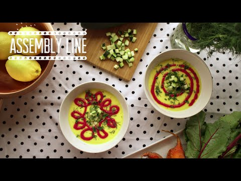 Chilled Red & Golden Beet Soup  | Assembly Line