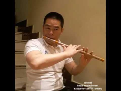 Bansuri Dhun । musical instrument of nepal । nepali flute न मुछे आमा दहिमा टिका