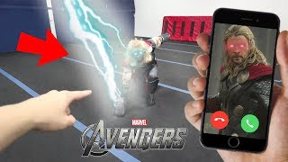 CALLING THOR ON FACETIME AT 3 AM!! (HE ATTACKED US) *THOR FROM AVENGERS*