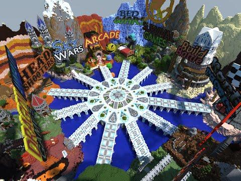 Minecraft - Server Hub with 12 Areas