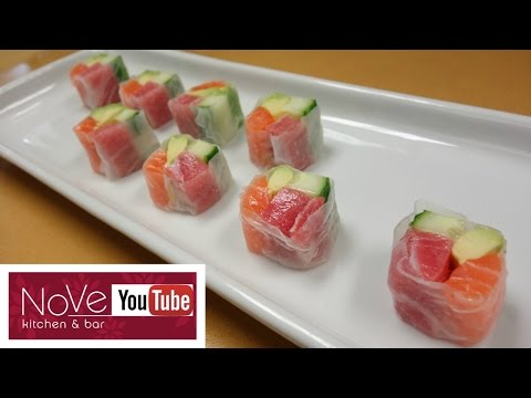 Rice Paper Sashimi Roll - How To Make Sushi Series