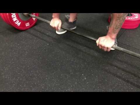 505lb False Grip Deadlift