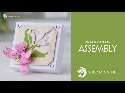 SVG File - Calla Lily Gift Box - Assembly Tutorial