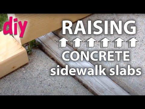 Fixing a Sunk Sidewalk Section