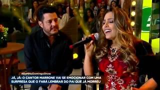 Fernanda, Que Foi Ajudada Por Bruno E Marrone, Canta Ao Lado Da Dupla No Palco Do Domingo Show