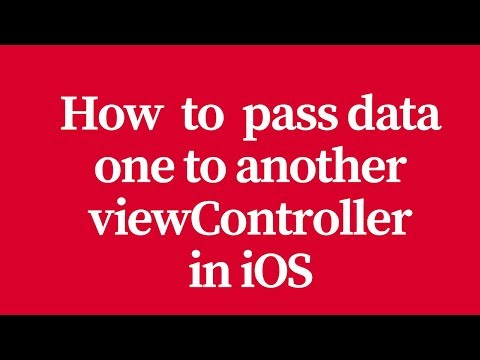 how to pass data one to another viewcontroller in ios