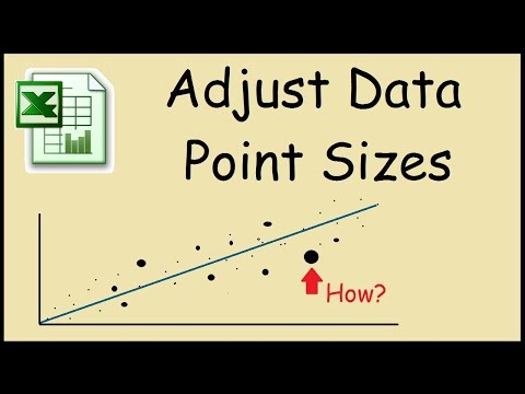 How to make scatter plot points smaller in Excel