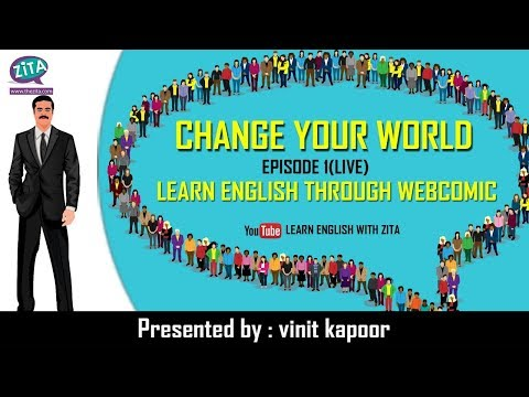English Speaking Live Class 1 | Learn English Through Webcomic | Change Your World