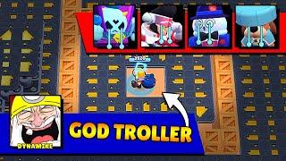 GOD TROLLER in HACKER MAP! Brawl Stars 2021 Funny Moments & Fails & Glitches #257