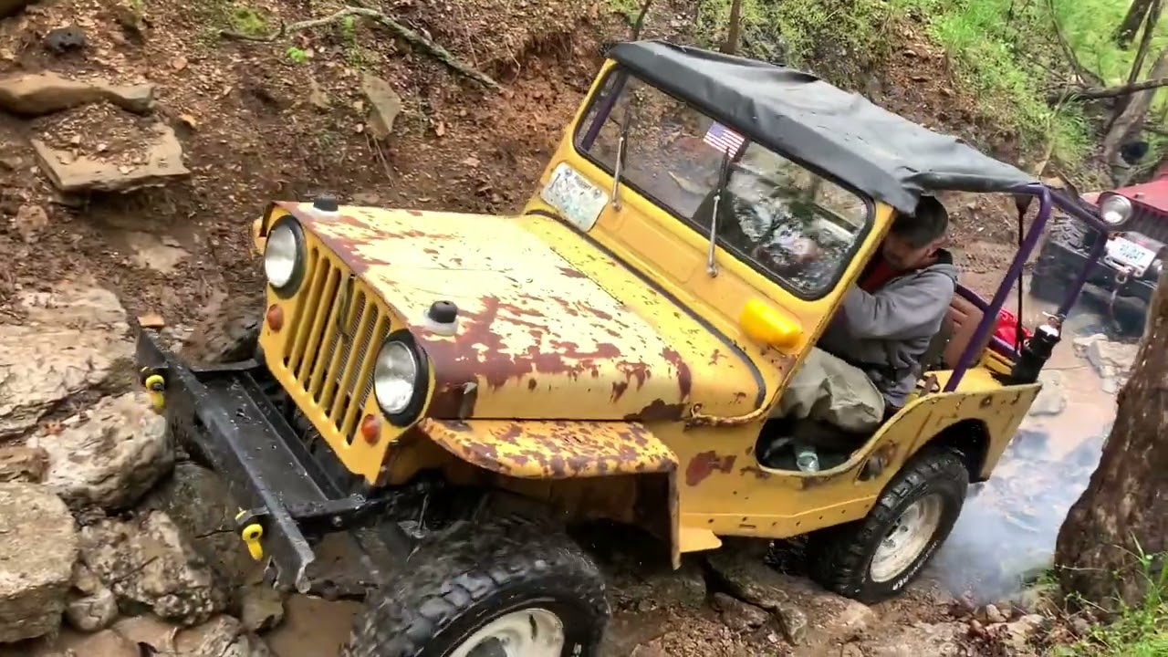 Willys Jeeps on Boulder Dash and Slippery When Wet @ Rush Springs Ranch 2021