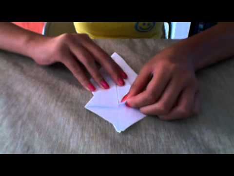 How to fold a paper origami swan