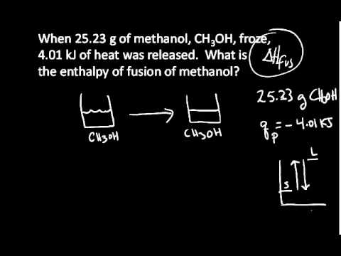 Enthalpy of Fusion Example