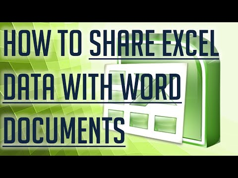[Free Excel Tutorial] HOW TO SHARE EXCEL DATA WITH WORD DOCUMENTS - Full HD