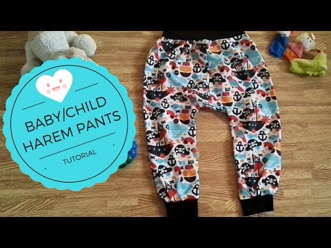 BABY/CHILD HAREM PANTS TUTORIAL WITH FREE PATTERNS