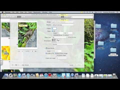 How to produce a contact sheet on a mac
