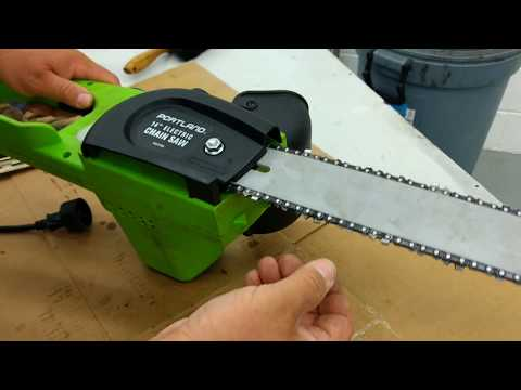 How to adjust and maintain an electric chainsaw