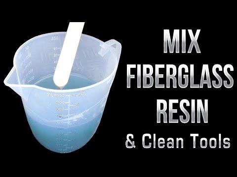 How to mix Fiberglass Resin & Clean Tools