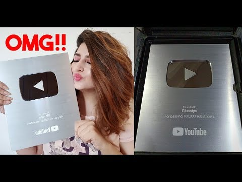 I GOT MY YOUTUBE SILVER PLAY BUTTON!! | UNBOXING | GLOSSIPS