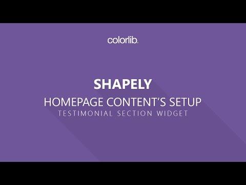 Testimonials For Shapely WordPress Theme [Homepage Setup]