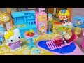 Baby doll camping house and Kitchen Refrigerator play story music - ToyMong TV 토이몽