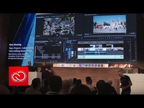 Collaborative Video Editing Made Simple (NAB Show 2017) | Adobe Creative Cloud