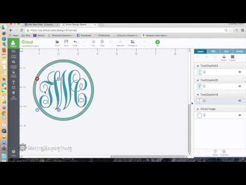 How to Make a Monogram with Cricut Explore