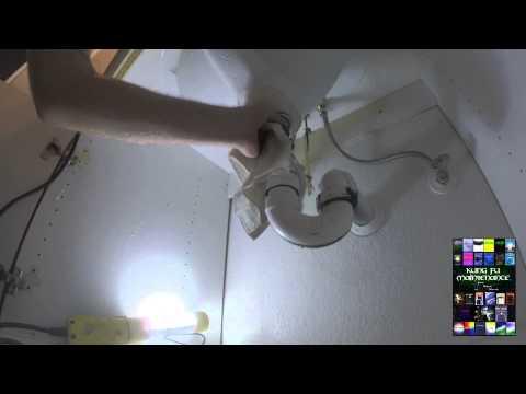 How To Repair New Install Water Leaking Under Bathroom Sink Vanity Pop Up Drain Plumbing