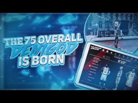 THE NEW 75 OVERALL DEMIGOD - CLAMP GOD BUILD - NBA 2K18