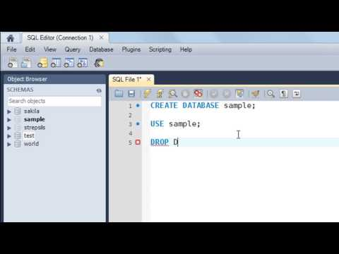 SQL Tutorial - 5: Create, Use and Drop Databases