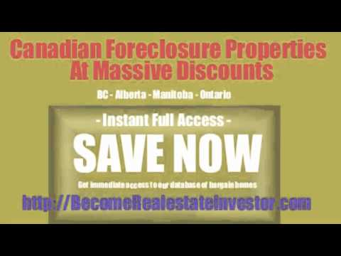 Canadian foreclosure listings
