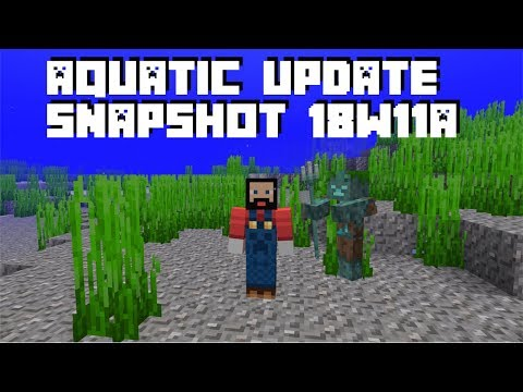 Minecraft 1.13 Aquatic Update Review  - The Drowned and Shipwrecks (Snapshot 18w11a)