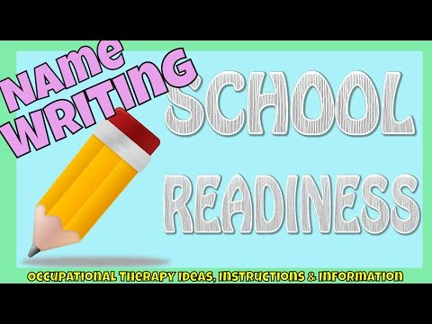 How to teach your child to write their name | SCHOOL READINESS | Fine Motor Skills