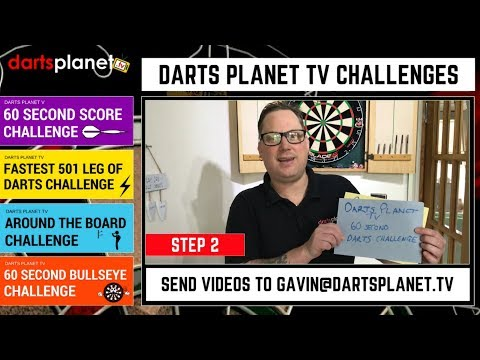 IT'S SO EASY TO SEND US YOUR DARTS CHALLENGE VIDEO - DARTS PLANET TV DARTS CHALLENGES