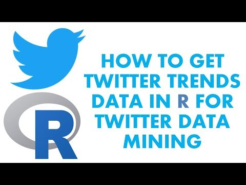 Text Analytics with R | How to get Trends data from Twitter | Twitter Data Mining
