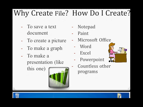 Windows 7 Tutorials - Create File (video 1)