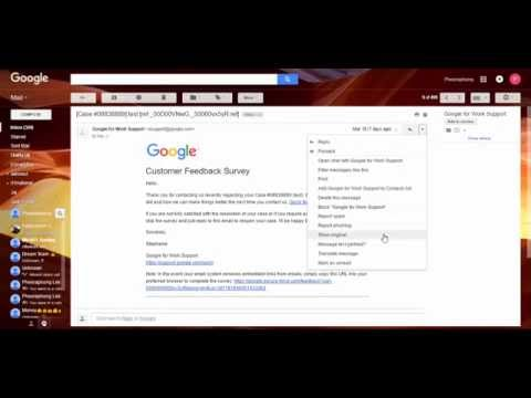 How to get message header at gmail