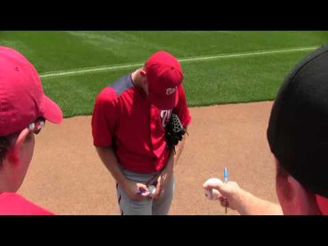 Stephen Strasburg Signing Autographs At Oriole Park