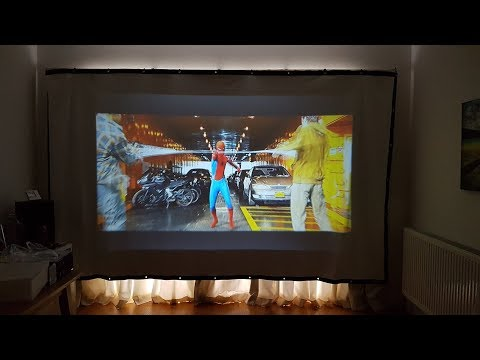 Unboxing and review of a Excelvan PVC Collapsible Projection Screen HD Portable Projector