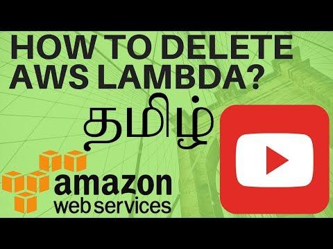 TAMIL HOW TO DELETE AWS LAMBDA FROM AWS USING SERVERLESS FRAMEWORK