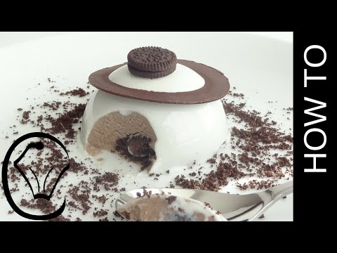 Cookies and Cream Shiny Mirror Glaze Cheesecake Mousse Dome Entremet by Cupcake Savvy's Kitchen
