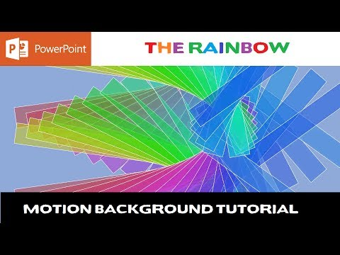 The Rainbow Motion Background in PowerPoint 2016 Tutorial | The Teacher