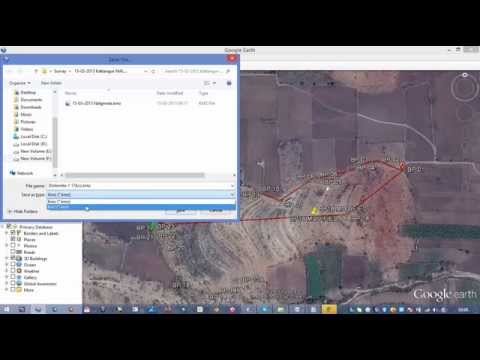 Create kml or kmz file from Google Earth