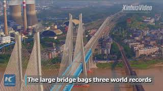 Boasting 3 world records! A new railway bridge over China