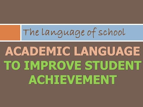 Academic Language for Student Success